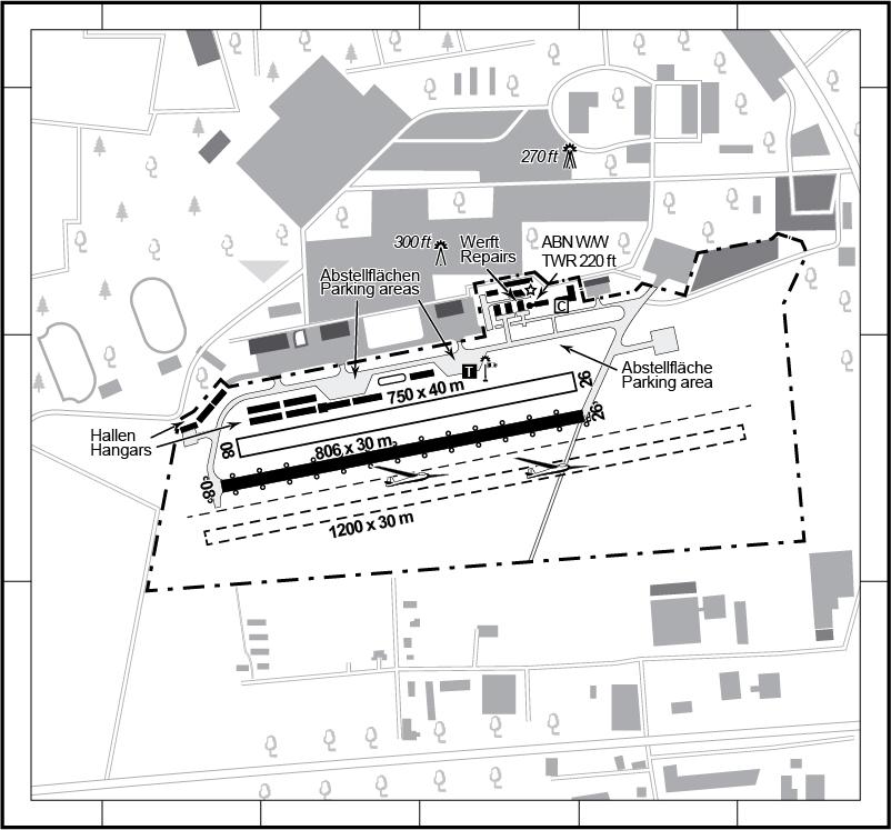 VFR-Platzkarte